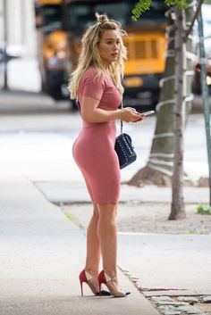 Hillary Duff in a great tight dress
