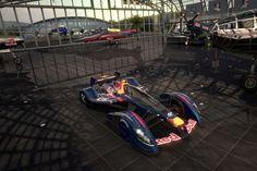 Deshalb wurde der neue Renner auch in der bekannten Red Bull-Lackierung mit blauem Chassis und gelbe... - Sony/GT5