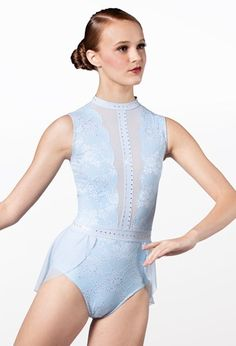 Weissman® Lyrical Costumes, Dance Leotards, Stretch Lace, Elegant Dresses, Polyester Spandex, Perfect Fit, Competition, One Piece, Skirts