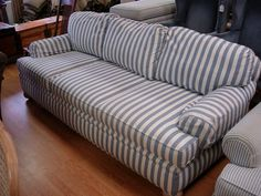 10171 Pearson By Lane Sofa Country Blue Striped W On