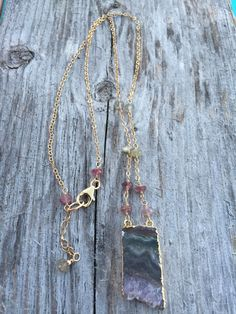 Boho Amethyst Drusy, Druzy Pendant Necklace with Mixed Sapphires/ Sundance Style/ Layering Necklace by MadeYaWanna on Etsy Amethyst, Sapphire, Bohemian Necklace, Layering, Necklaces, Pendant Necklace, Boho, Stuff To Buy, Etsy