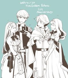 Alm and Celica  Berkut and.....forgot her name