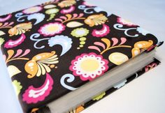 Mod Podge DIY cookbook revamp - with fabric