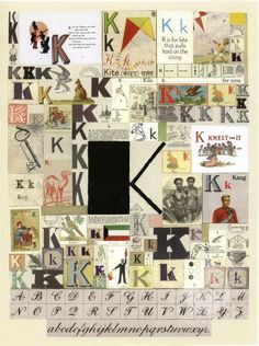 The letter K by Peter Blake