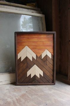 Mountain Wood Art,Christmas Gifts,Modern Wood Art,Wood Wall Art,Mountains,Mountain Art,Geometric Wood Art,Rustic Home Decor,Farmhouse Decor by shopdivinedesigns on Etsy https://www.etsy.com/listing/552690363/mountain-wood-artchristmas-giftsmodern