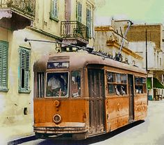 This type of tram was the last kind to run in Athens Greece. Attica Athens, Athens Greece, Public Transport, Old Photos, Montreal, Transportation, Postcards, Trains, Ships