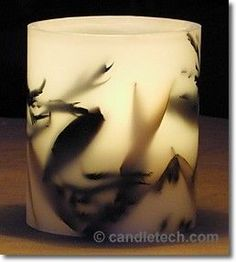 Step by step instructions for making hurricane candles.