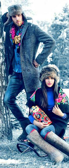 Russian folk style. Russian beauty. Russian girls. Russian man. Traditional. Fashion.