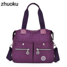 057211553 US $25.65 |Aliexpress.com : Buy ZHUOKU Top handle Messenger Bag Handbags  Women Big Nylon Shoulder Beach Crossbody Bag Casual Tote Female Purse Sac  Femme ...