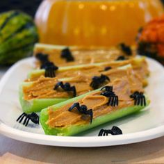 Trick your taste buds with these ten delicious treats that won't scare your waistline. Kid-friendly and mom-approved, these hauntingly healthy snacks are as fun to make as they are to eat!