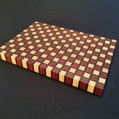 Checker Board style Cutting Board by ArtisanWoodwright on Etsy