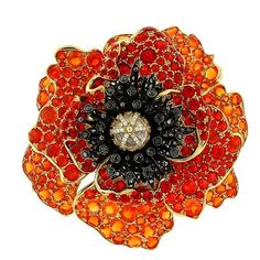This is such an incredible Poppy pendant by Paula Crevoshay. It's made with fore opals, black diamonds and moonstone.