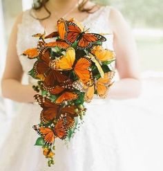 Becca & Justin's butterflies and dragons fantasy wedding