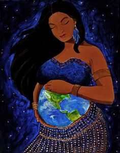 Mother Earth Art PrintFrom the Dancer Goddess Series by JGCahoon, $15.00