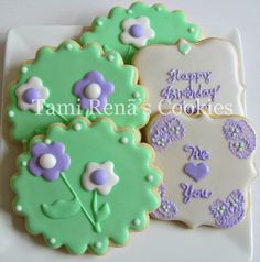 Happy Birthday, via Flickr. Like the flower in the circle cookie