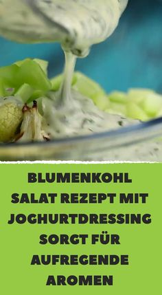 Cauliflower salad recipe with yogurt dressing creates exciting aromas - it works: Cut the cauliflower florets from the stalk and shred them. Yogurt Recipes, Pizza Recipes, Mexican Food Recipes, Salad Recipes, Diet Recipes, Cauliflower Salad, Cauliflower Recipes, No Calorie Foods, Southern Recipes