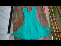 Umbrella cut churidar top cutting and stitching easy method part - 1 - YouTube
