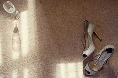 Jimmy Choo shoes + Champagne