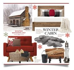 """Winter Cabin.."" by vkevans ❤ liked on Polyvore featuring interior, interiors, interior design, home, home decor, interior decorating, UGG Australia, Thrive, Home Decorators Collection and GANT"