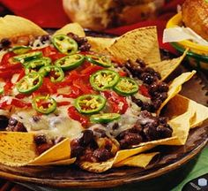 Black Bean Nachos. For game time appetizers or snacking anytime, these nachos are a top choice.