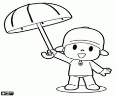 pocoyo dibujos Spanish Coloring Pages Pinterest