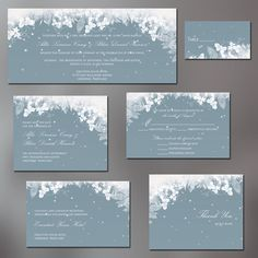 Winter wonderland wedding invitations www.thepolitefox.com | The ...