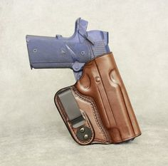 1911 Full Size with rail IWB Concealed Tuckable Custom Leather Holster by ETW Holsters 1911 Holster, Custom Leather Holsters, Gun Holster, Global Knife Set, Global Knives, Military Knives, Combat Knives, Reloading Bench, Tactical Knives