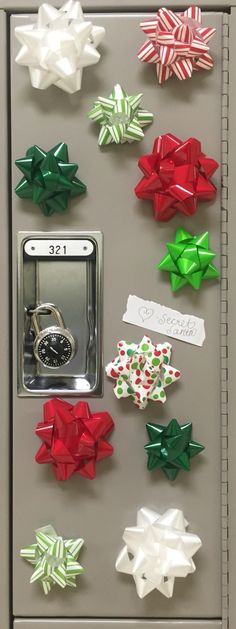 christmas locker decorations a secret santa surprise