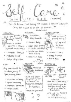 The self care basics. We got this!