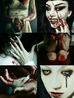 She was double-sided. She wanted to control it but then again, she didn't. She loved the taste of blood. Oh, she loved the taste of fear as she gulped down her victims blood. Gore Aesthetic, Gothic Aesthetic, Character Aesthetic, Zombies, Supernatural, Legends And Myths, Dark Pictures, Manga Drawing, Dark Paradise