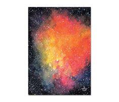 Ilustração Galáxia laranja