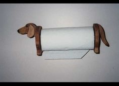 Dachshund paper towel holder handcrafted by Waltsworkshop on Etsy, dollars Dachshund Funny, Dachshund Love, Vintage Dachshund, Paper Towel Crafts, Paper Towels, Weenie Dogs, Doggies, Daschund, Paper Towel Holder