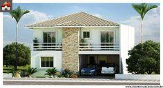 Planta de Sobrado - 5 Quartos - 272.66m² - Monte Sua Casa