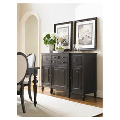 """Derby Buffet in Midnight - $920.95 to $1905 (additional shipping charges apply) - Maple wood veneers and solid hardwood - Color: Midnight - 42"""" H x 61"""" W x 21"""" D - Joss & Main"""