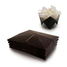 popcorn stored in origami folds