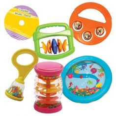 Baby's+First+Band+-+These+durable+plastic+instruments+have+no+loose+parts+and+are+easy+to+hold.+includes+a+maraca,+jingle+bell,+mini+rain+maker,+clapper+and+wave+drum,+plus+a+CD+with+play-along+instrumentals.+  +-+$34.99