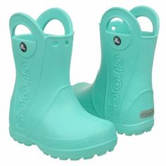Crocs rain boots.  My toddler would love these.  She lives in snow boots year-round.