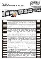 free cinema worksheets vocabulary for kids에 대한 이미지 검색결과