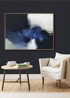 Contraste que j'adore Blue Abstract Painting, Turtle Painting, Abstract Canvas, Painting Art, Abstract Paintings, Art Paintings, Watercolor Painting, Landscape Paintings, Large Wall Paintings