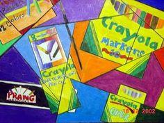 Art Supplies, cubist pop art