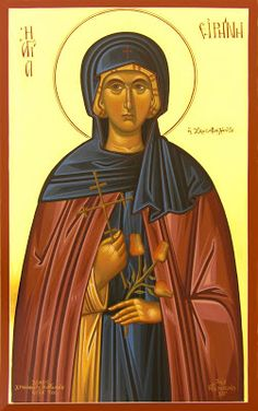 Full of Grace and Truth: St. Irene the Righteous Abbess of the Monastery of Chrysovalantou Religious Icons, Religious Art, Church Icon, Prays The Lord, Bride Of Christ, Orthodox Icons, God Jesus, Word Of God, Holy Spirit