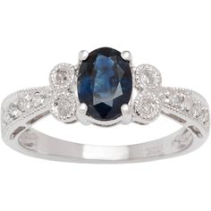 Zales Lab-Created Blue and White Sapphire Multi-Row Art Deco Ring in Sterling Silver gZCqMclu1