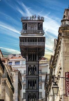 lisbona_Elevador_de_Santa_Justa, Lisboa, Lisbon,  Portugal