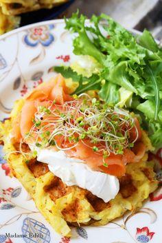 Hash browns - zapiekane ziemniaki - Madame Edith Hash Browns, Catering, Menu, Gluten Free, Cooking, Ethnic Recipes, Food, Menu Board Design, Glutenfree