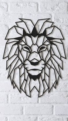 Check out our laser cut lion selection for the very best in unique or custom, handmade pieces from our digital shops. Geometric Shapes Art, Geometric Lion, Geometric Drawing, Hilograma Ideas, Afrique Art, Frida Art, Shape Art, Wire Art, String Art