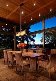 Lake House Two - Living Room - contemporary - dining room - seattle - McClellan Architects