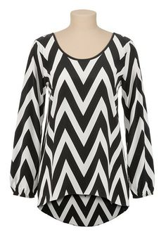 HAVE THIS - LOVE THIS! High-low Chevron Print tunic top (original price, $29) available at #Maurices