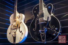 Gretsch G6136T White Falcon and G6136TSL Silver Falcon #gretsch #gretschguitar #gretschwhitefalcon #gretschsilverfalcon #guitar #electricguitar #megamusic