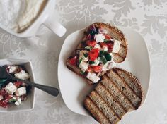 Szybkie Śniadanie- tosty z serem feta