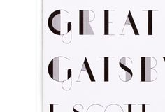 Creative Review - F Scott Fitzgerald typographic covers